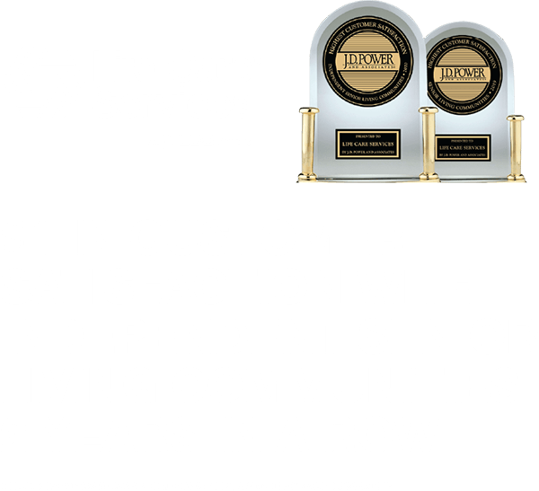 #1 in customer satisfaction with independent senior living communities 2 years in a row